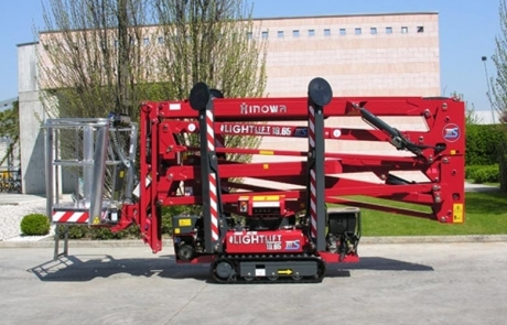 19m Hinowa 19.65 Self Propelled Tracked Spider Boom Lift Hire