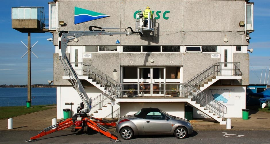 15.2m Easy Lift 150 Self Propelled Tracked Spider Boom Lift Hire